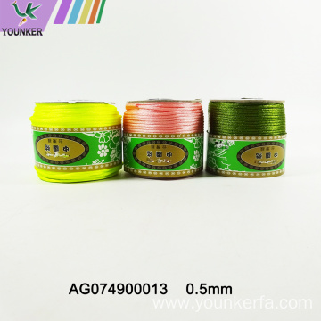 Rainbow Colors Jade Line Wire String
