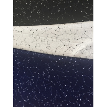 Stars Design Polyester Bubble Crepe Printing Fabric