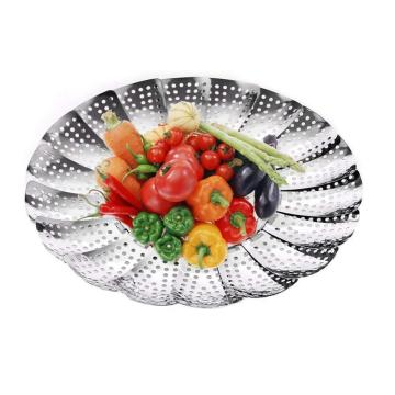 Stainless Steel Adjustable Vegetable Steamer Basket
