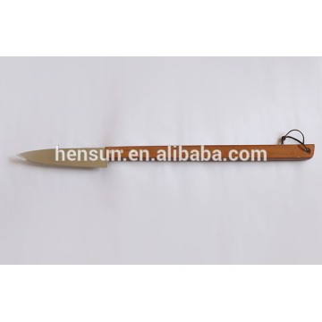 Amazon Wooden Handle BBQ Tool Kitchen Knife