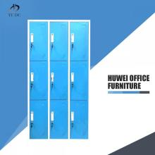 Sports Gym 9 Door Metal Cabinet Locker