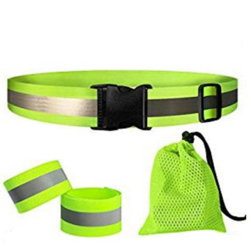 Wholesale Yellow polyester elastic High visible waist belt