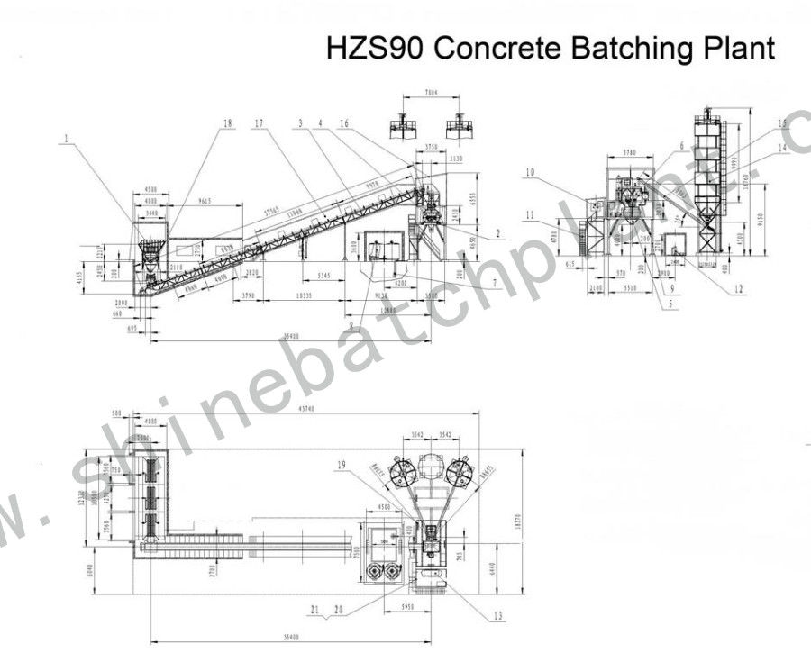 Drawing Concrete Batch Plant 90