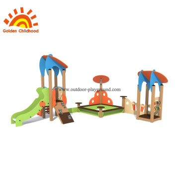 HPL Outdoor Playground Slide And Sandbox Equipment