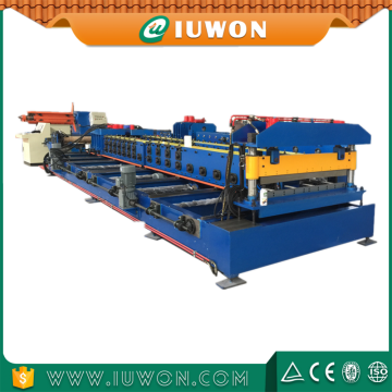 China for Door Frame Making Machines, Shutter Door Panel Roll Forming Machine Iuwon Machinery Steel Door Forming Line export to Cape Verde Exporter