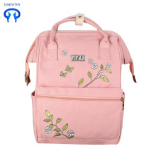 New style pure color embroidery backpack