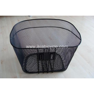 Black Steel Basket Front Bicycle Basket