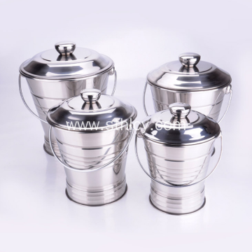 New Design Stainless Steel Food Bucket