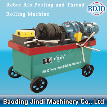 Rebar threading machine for parallel therad