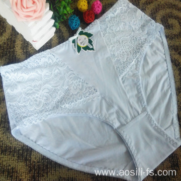 China OEM new style wholesale plus size sexy new white woman underwear 2813