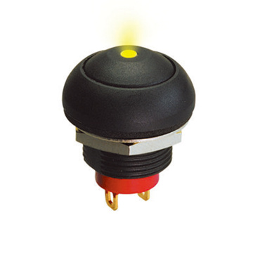 IP67 Round Cap LED Illuminated Push Button Switches