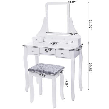 Makeup Dresser mirrored dressing table set