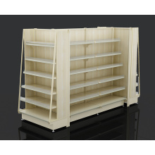 China for Steel Wooden Supermarket Shelf High Quality Supermarket Steel Wood Rack export to Montserrat Wholesale