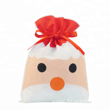 Red Santa Christmas Non-woven Drawstring Gift Packing