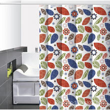 Waterproof Bathroom printed Shower Curtain Vinyl