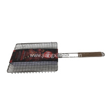 Grilling Multi-Use Basket Flipper With Wood Handle