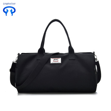 Large capacity canvas travel bag hand bag