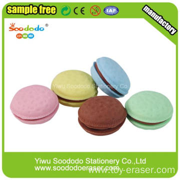 Promotional Bun Shaped Stationery Eraser with food shape