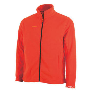Orange 100% polyester Fleece Jacket