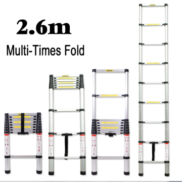 2.6m aluminum telescopic ladder