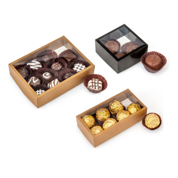 Custom logo printed truffle packaging chocolate box