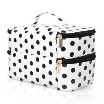 Fashion Dot Cosmetic Makeup Bag Organizer