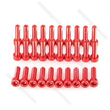 M3 * 8mm aluminium 7075 Screws Kepala Dome