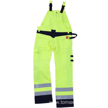 Fr White Gray Blue Safety Worakwear Bib Pants