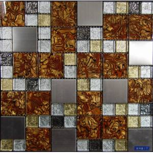 Glass Mixed Stainless Steel Mosaic