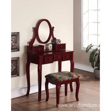 Wooden Dressing Table with Mirror ans stool