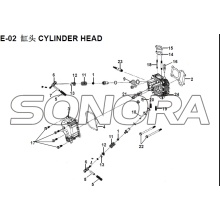 E-02 CYLINDER HEAD XS150T-8 CROX  For SYM  Spare Part Top Quality