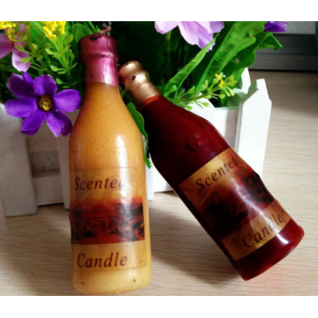 Supply wine bottle shaped candles for decoration