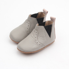 Elastic Baby Boots Genuine Leather Winter Boots