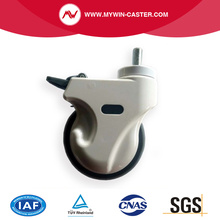 Super Sound-off Flexible Medical Caster with brake