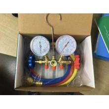 factory customized for Ac Manifold Gauge Set R410A brass manifold in carton box with hoses export to Germany Suppliers