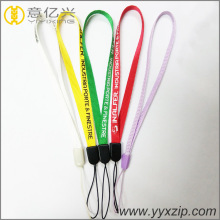cheap custom short wrist lanyard for keys