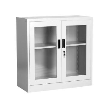 900mm Height Glass Door Metal Cupboard