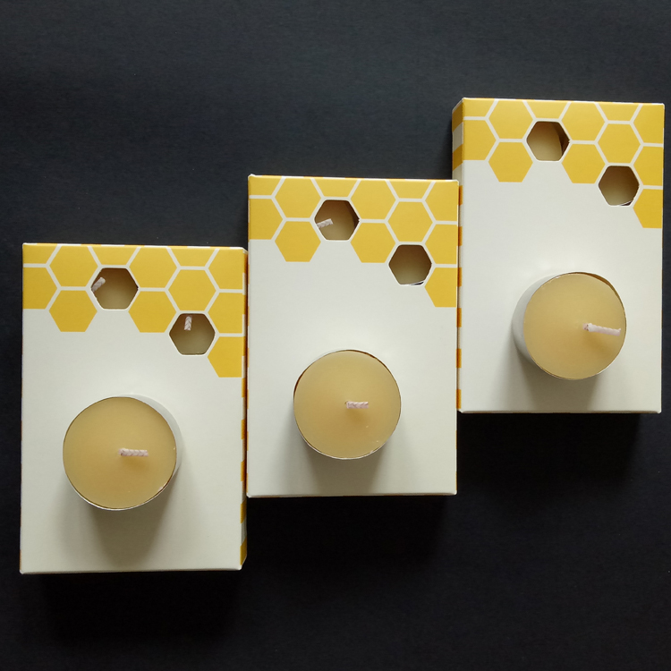 Pure 100% Beeswax Tea Candles