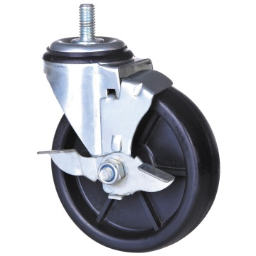 75mm thread stem caster with lock