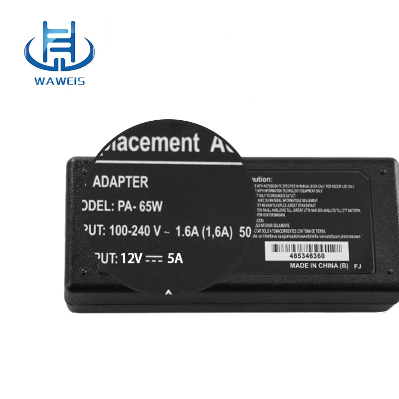 Computer LCD display power supply 12v 5a adapter