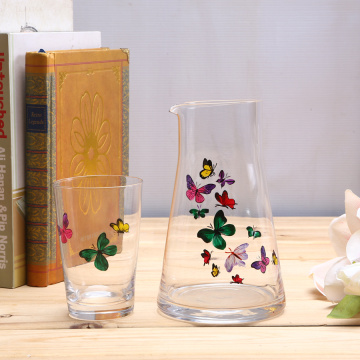 Hand Painted Water Drinking Glass Cup Set