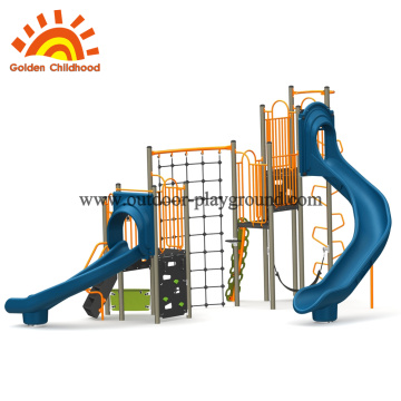 Outdoor backyard play structure swing set