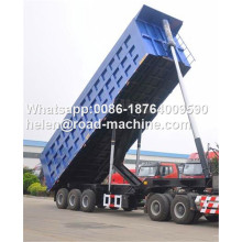 Low Cost for Dump Trailer,Semi Dump Trailers,Square Dump Trailer Manufacturers and Suppliers in China HYVA Lifting 3 Axles 30-45 CBM Dump Trailer supply to Qatar Factories