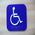 Custom ADA Braille Toilet Room Number Signs
