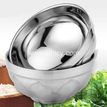 Stainless Steel Bowl Anti-scalding Household Tableware