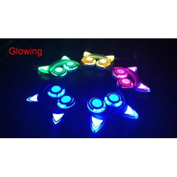 Wholesale Colorful LED Flashing Earphones Cat Ear Headphones