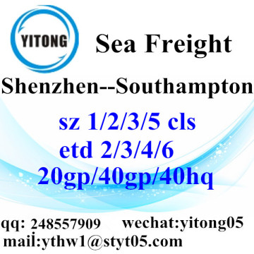 Shenzhen Sea Freight Shipping Services to Southampton