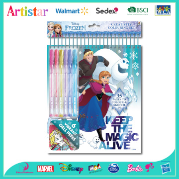 DISNEY FROZEN creative colouring set