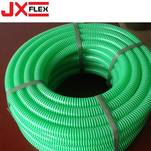 PVC Clear Suction Flexible Green Pipe