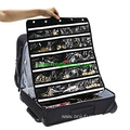 50 Pockets Oxford Hang Up Jewelry Organizer with Stainless Steel Zipper & Hanger